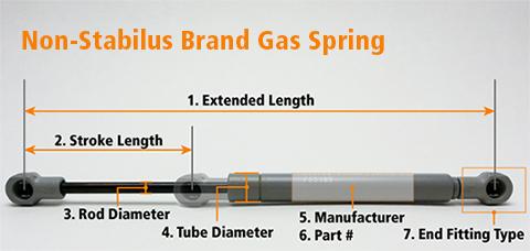 Bloc O Lift Gas Spring Stabilus L 242 Xo Kh 237 C 243 Kh 243 A