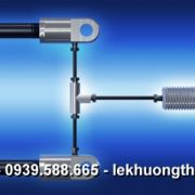 Locking Gas Spring In Pull Direction Push In Relatively